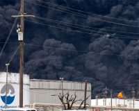 """Houston Chemical Fire Prompts """"STAY INSIDE"""" Warning for Residents"""