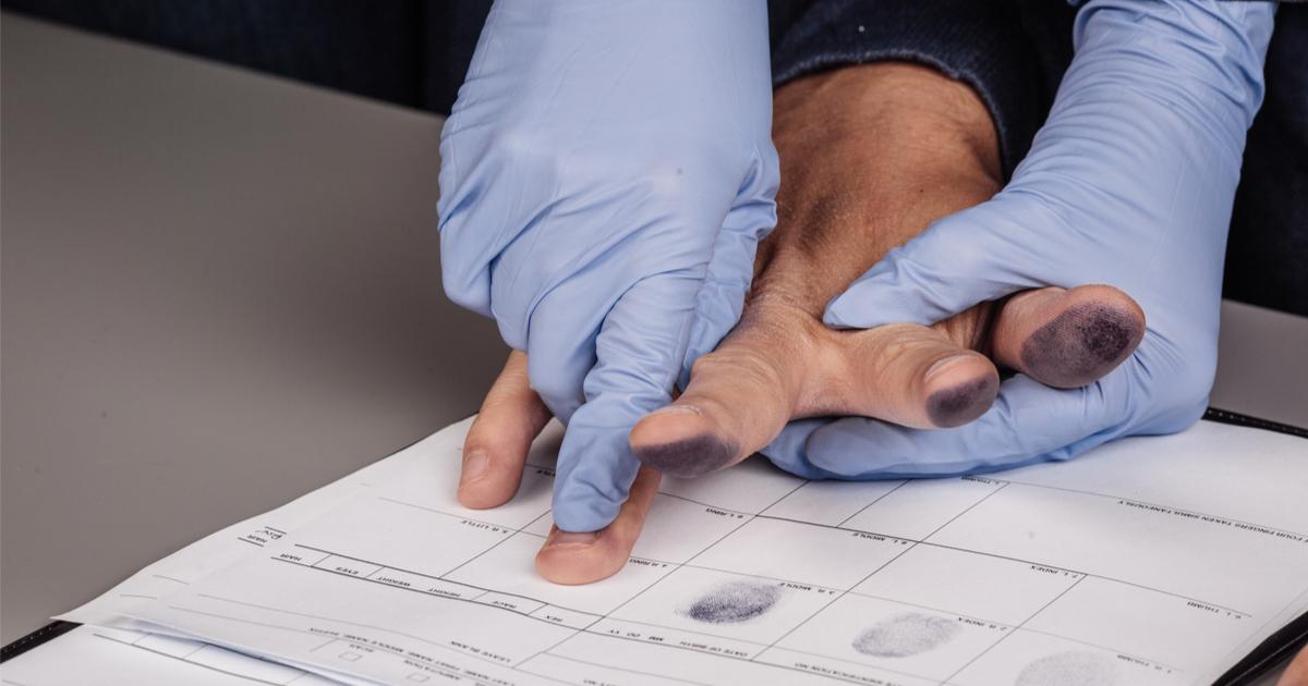 police fingerprinting