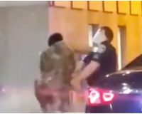 Black Woman Punches White Cop In the Face, Then A Black Cop Knocks Her to the Ground