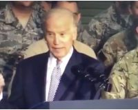 WATCH: Biden Calls Military Members 'Stupid B—' During Overseas Speech As Vice President