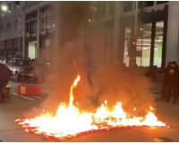 Antifa Terrorizes Portland, Seattle Streets – Vandalize DNC Building, Threaten Cops (Videos)
