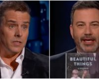 Hunter Biden Goes On Jimmy Kimmel, Host & Guest Laugh About Addiction to Crack (Video)