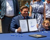 Ron DeSantis Trolls Mainstream Media with Bill Signing Stunt
