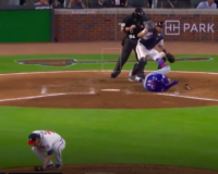 SEE IT:  Scary Moment Mets' Player Takes Fastball to the Face