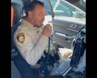 'Father, Mentor, Hero': Retiring Officer Tears Up When He Hears Son's Voice on Radio During Final Sign-Off