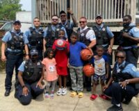After Seeing Kids Playing Basketball with Milk Crate, Officers Go Above and Beyond to Get Them Real Hoop