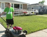 Teen Sets Out to Mow Lawns of 50 Veterans for Free in Honor of Late Grandfather: 'He Taught Me'
