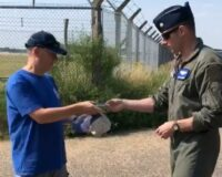 Civilian Alerts Airmen After Noticing Something Odd Coming from Back of F-15 Jet, Now They're Thanking Him