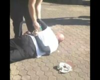 Distressing Video: Elderly Maskless Man Arrested, Collapses in Spasms, Reportedly Had Exemption
