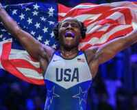 WATCH: U.S. Wrestling Gold Medal Winner Tamyra Mensah-Stock Gushes Over Family and God in Interview
