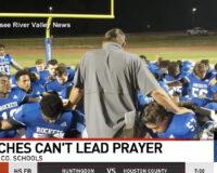 High School Football Team Thumbs Nose at Wokeness with Team Prayer on Field